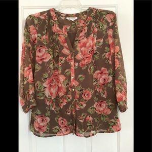 Ladies' floral blouse